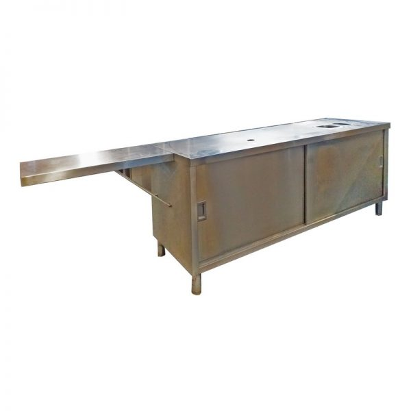 Stainless Steel Preparation Bench with Storage