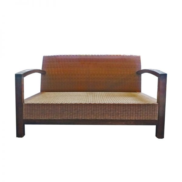 PU Rattan 2-seater Couch
