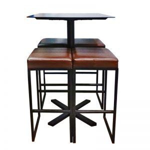 Bar Table + 4 Chairs Set