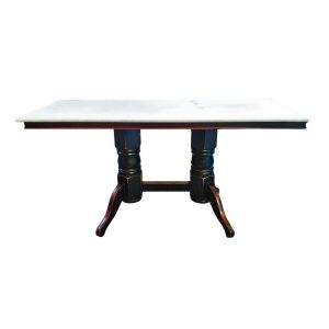 Chinese Rectangle Dining Table with Marble Top