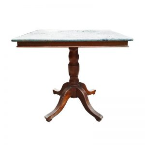 Square Chinese Restaurant Table with Marble Top