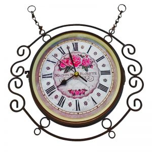 Barok Cast Iron Wall Clock