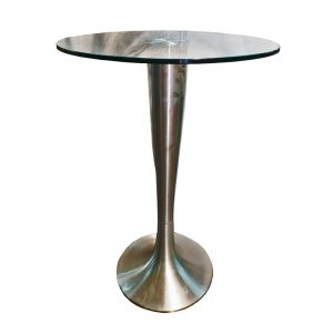Bar Table with metal stand and Glass Top