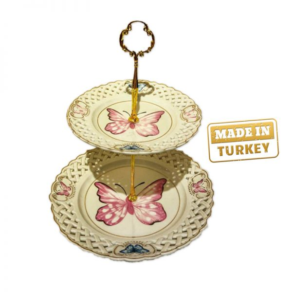 Turkish imported 2-Tier Cookie Plate