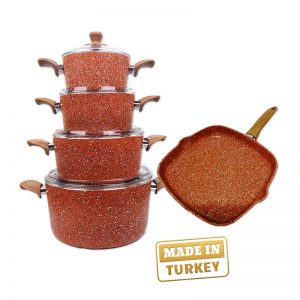 Turkish imported 3 Pot + 1 Pan Set