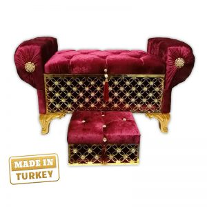 Turkish imported Ottoman with Storage and Jewelry Box