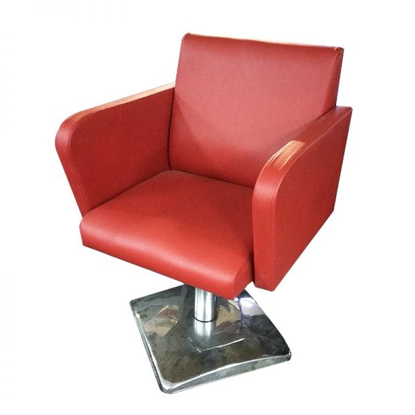 Red PU Barber Chair