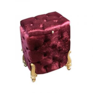 NEW: Velvet Ottoman with Storage