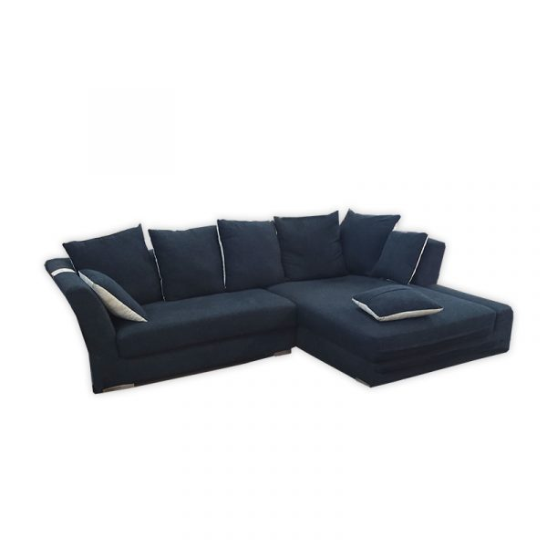 L-shape Fabric Sofa with Pillows