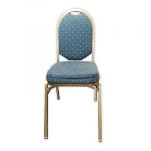Blue Fabric Banquet Chair