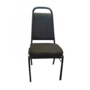 Black Fabric Banquet Chair