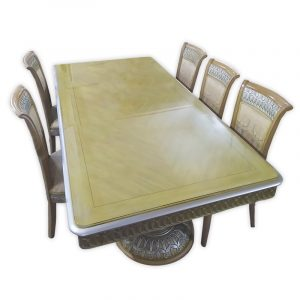 Barok Dining Table with 6 Chairs