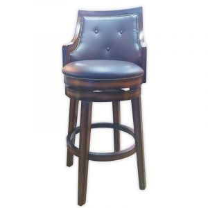 Oak wood design, PU Swivel Bar Chair
