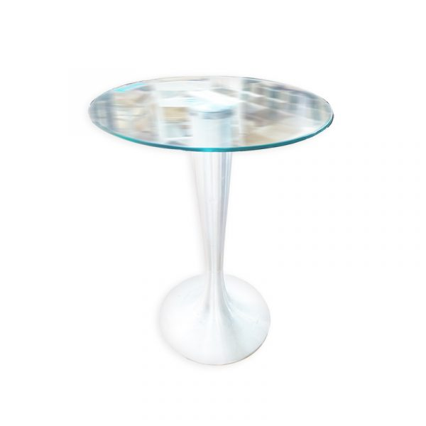 Round Modern Dining Table with Glass Top