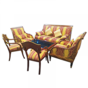 Presidential Suite, Couch Set 3+1+1, Coffee Table and 2 Cushioned Chairs