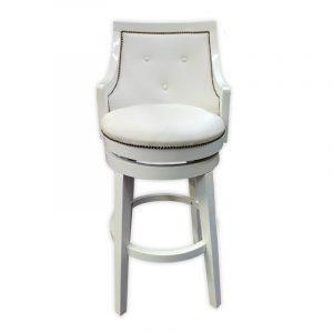 Oak wood design, PU Swivel Bar Chair