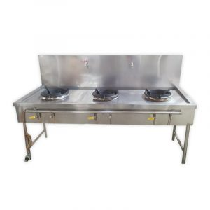 Stainless Steel 3 Burner