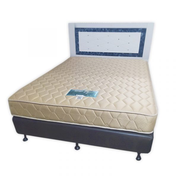 Queen Bed set with Diva, Mattress and Headboard