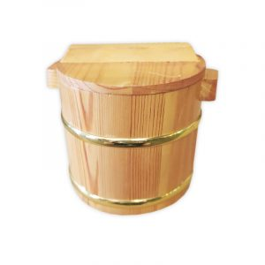 Traditional Wooden Bucket with Lid