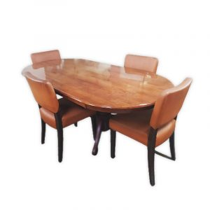 Wooden Dining Set with 4 Chairs