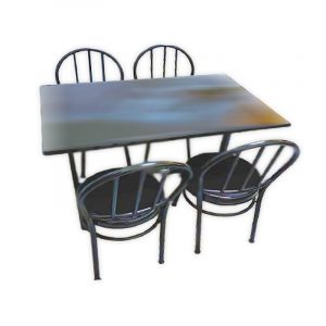 Restaurant Dining Set with 4 Chairs