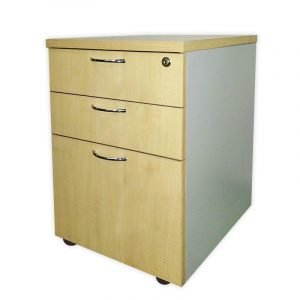 Wooden Office Pedestal with 3 Drawers
