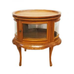 Round Display Table with Glass Windows