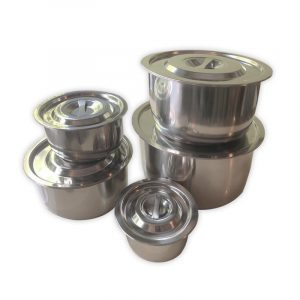 Stainless Steel Cooking Pots, set of 5